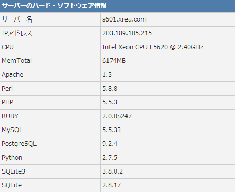 Xrea日本1GB免费PHP空间申请 可绑域名